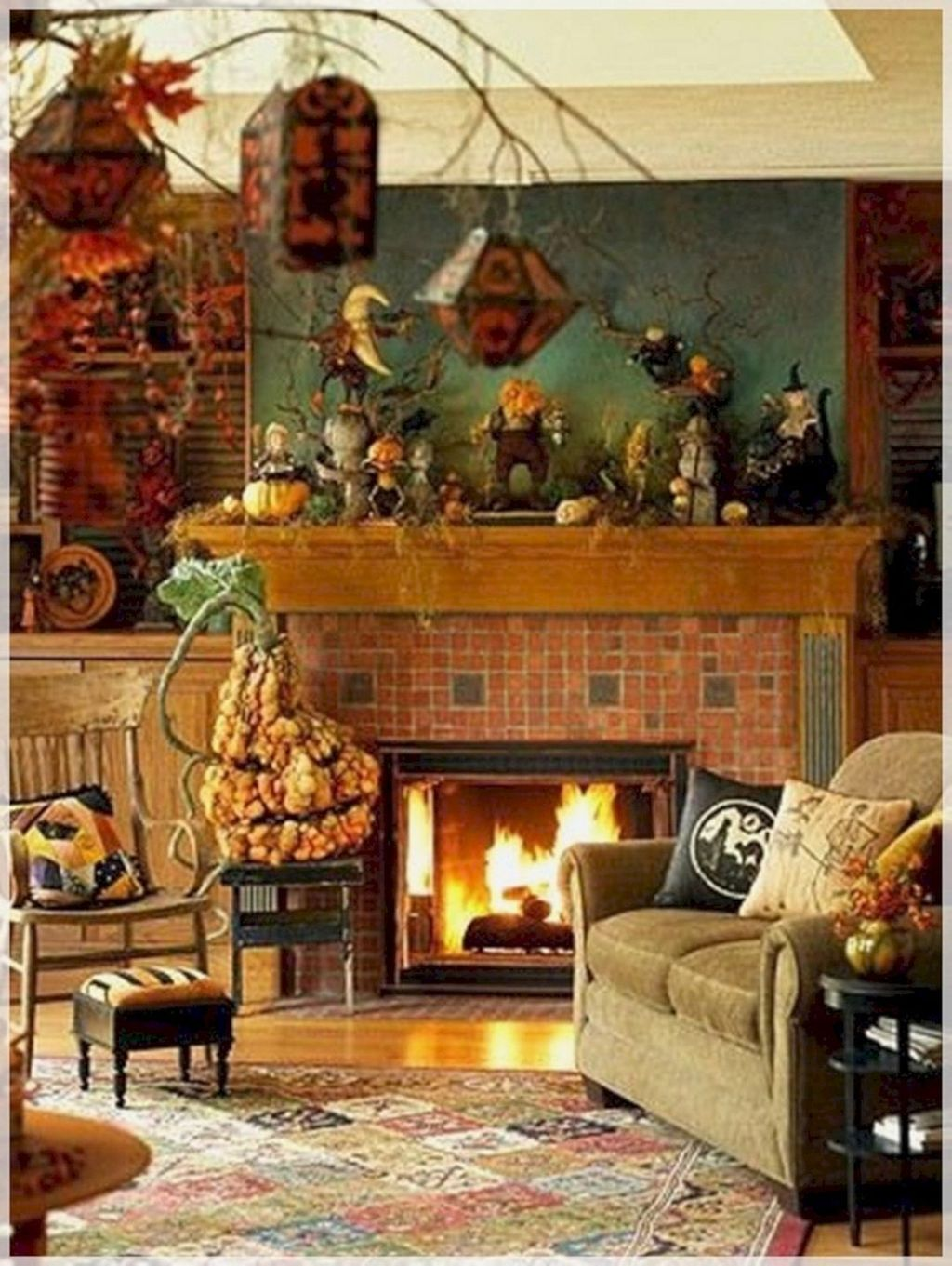 Stunning Halloween Living Room Decor Ideas Looks Scary 20