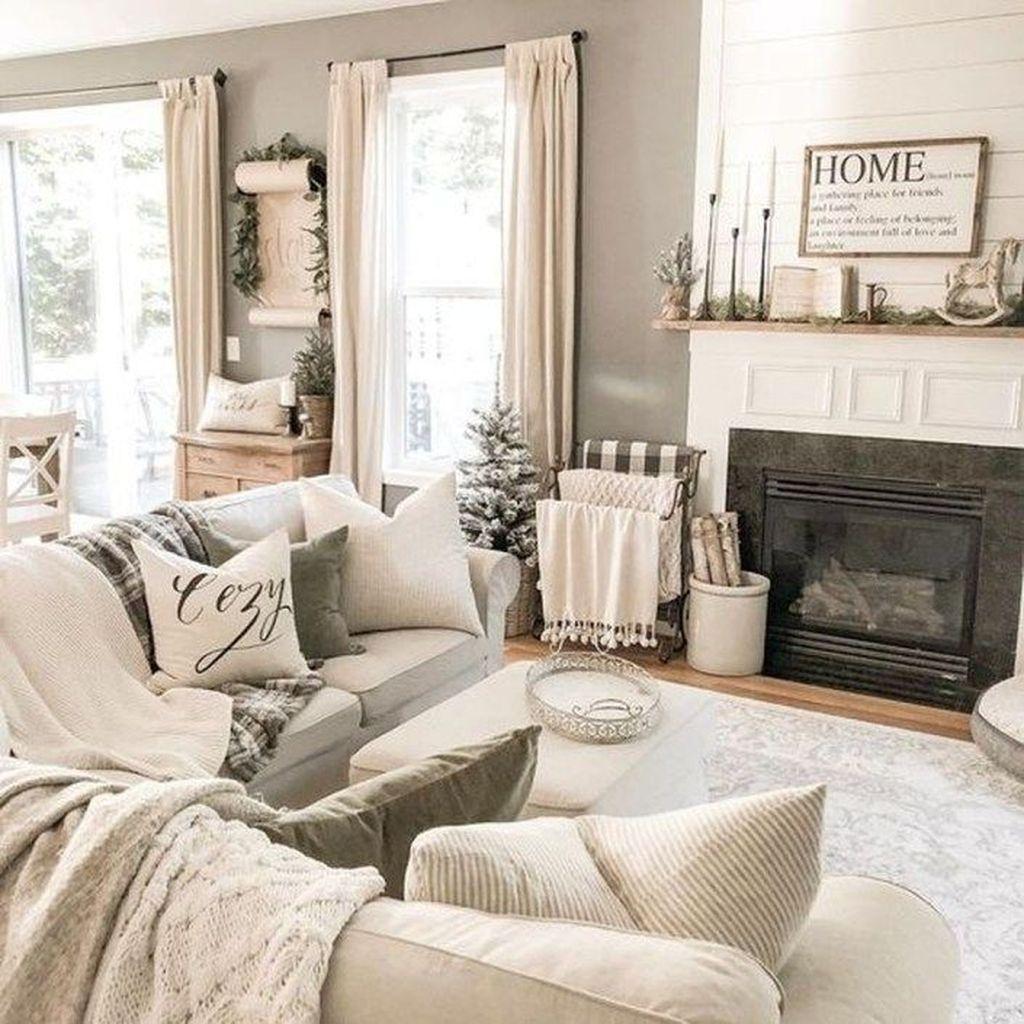 Fabulous Winter Living Room Decor Ideas 17
