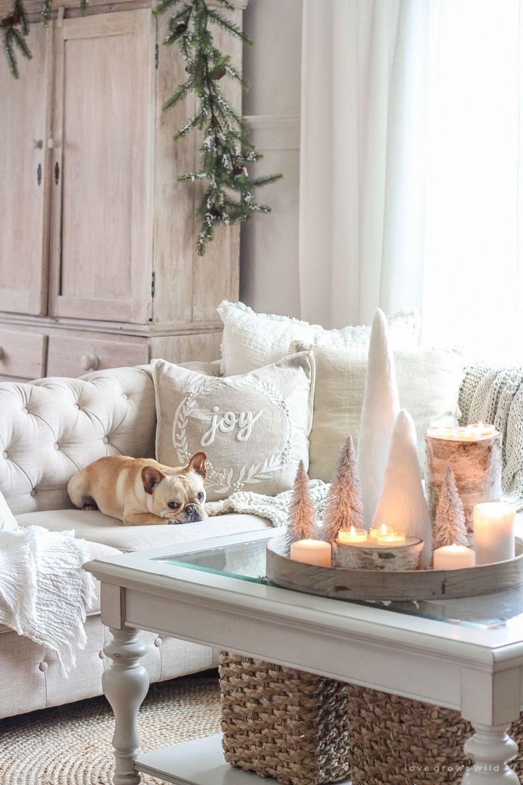 Fabulous Winter Living Room Decor Ideas 34