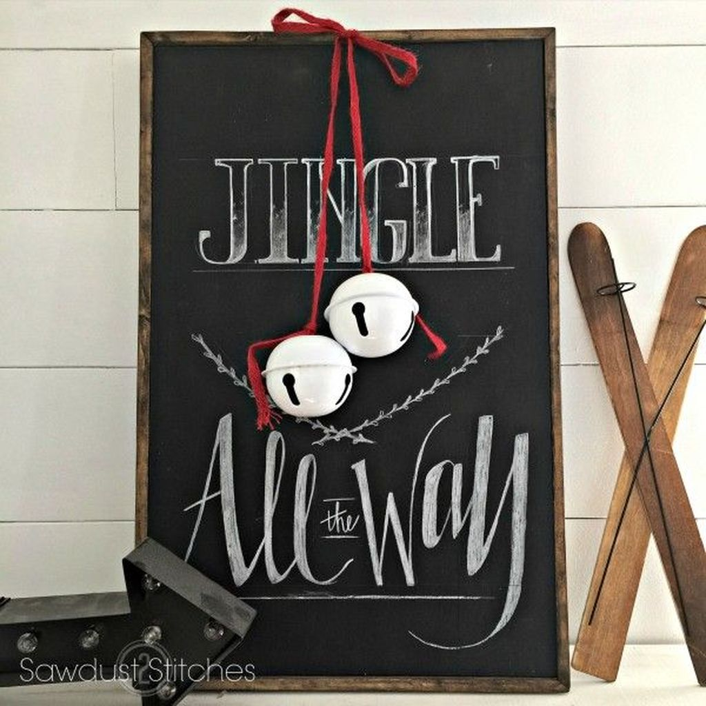 Inspiring Christmas Chalkboard Signs Design Ideas 02