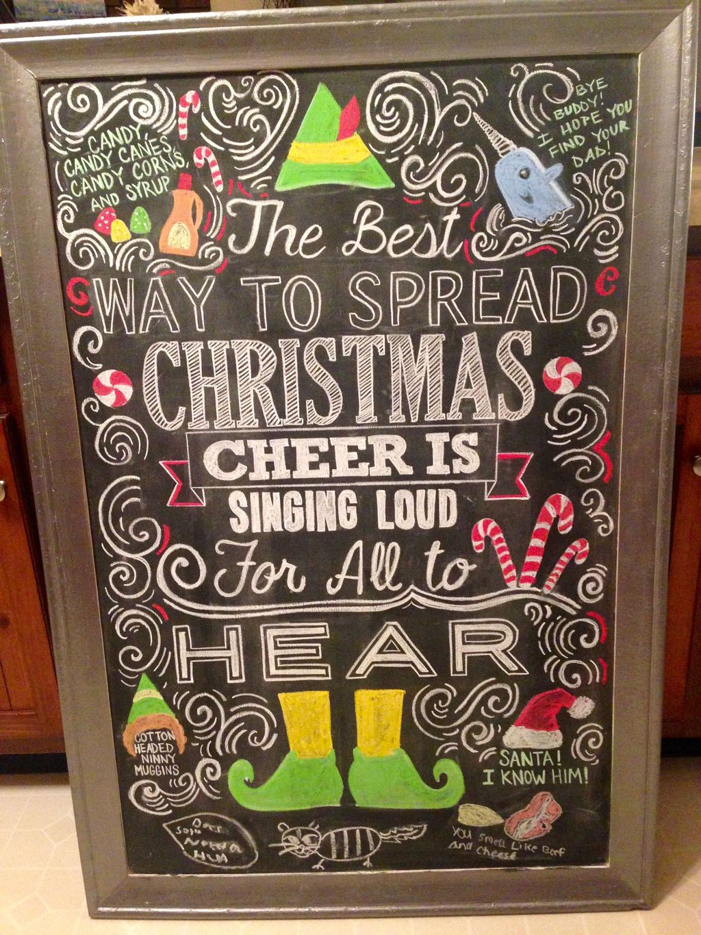 Inspiring Christmas Chalkboard Signs Design Ideas 04