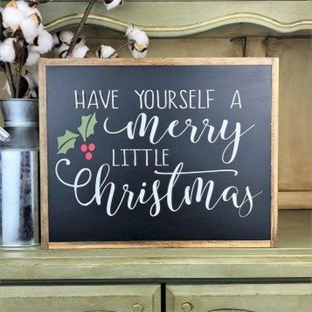 Inspiring Christmas Chalkboard Signs Design Ideas 28