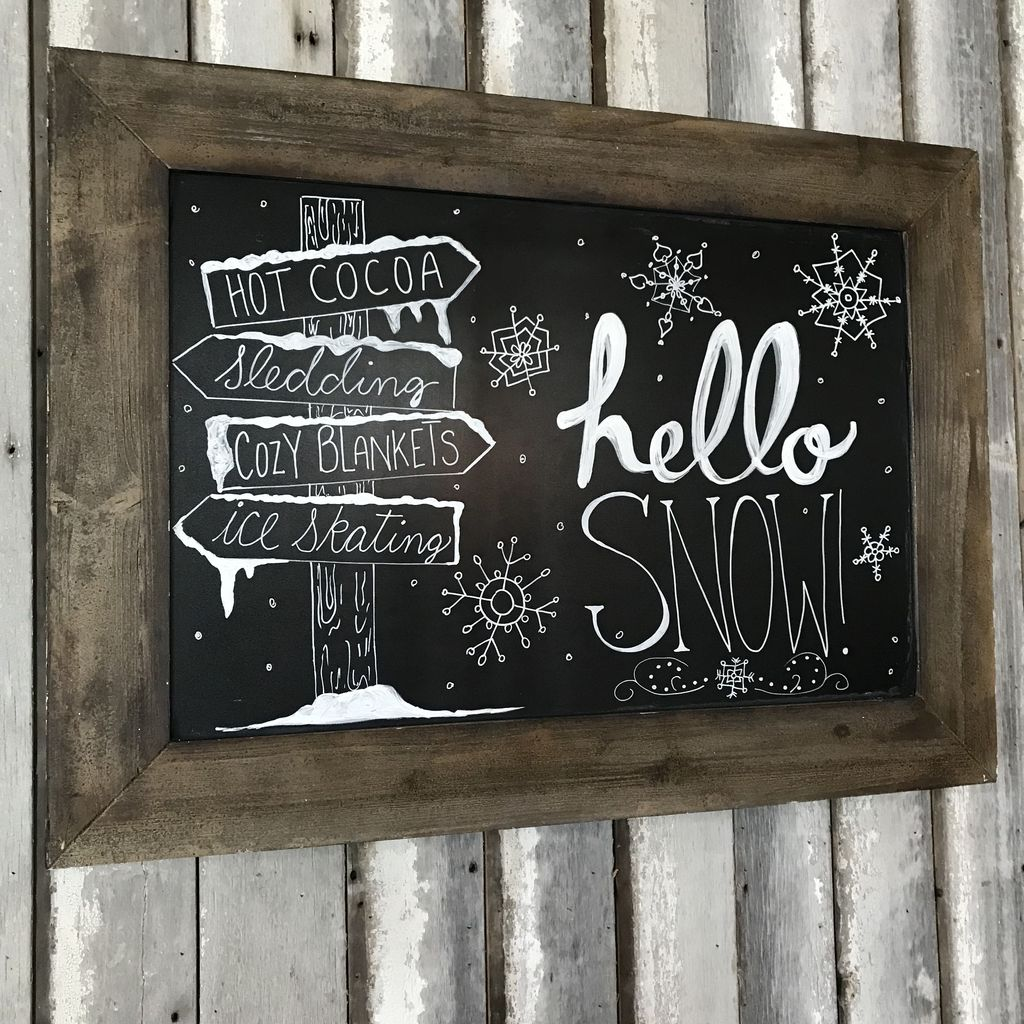 Inspiring Christmas Chalkboard Signs Design Ideas 32