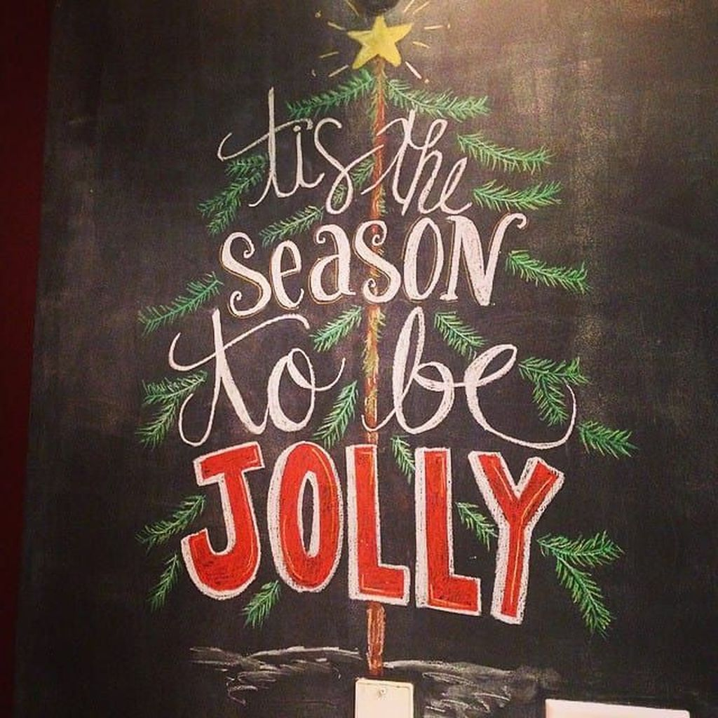 Inspiring Christmas Chalkboard Signs Design Ideas 33