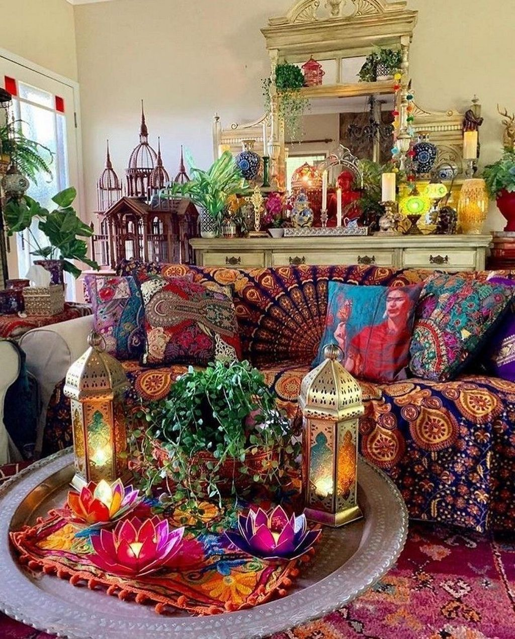 Lovely Bohemian Living Room Decor Ideas 03