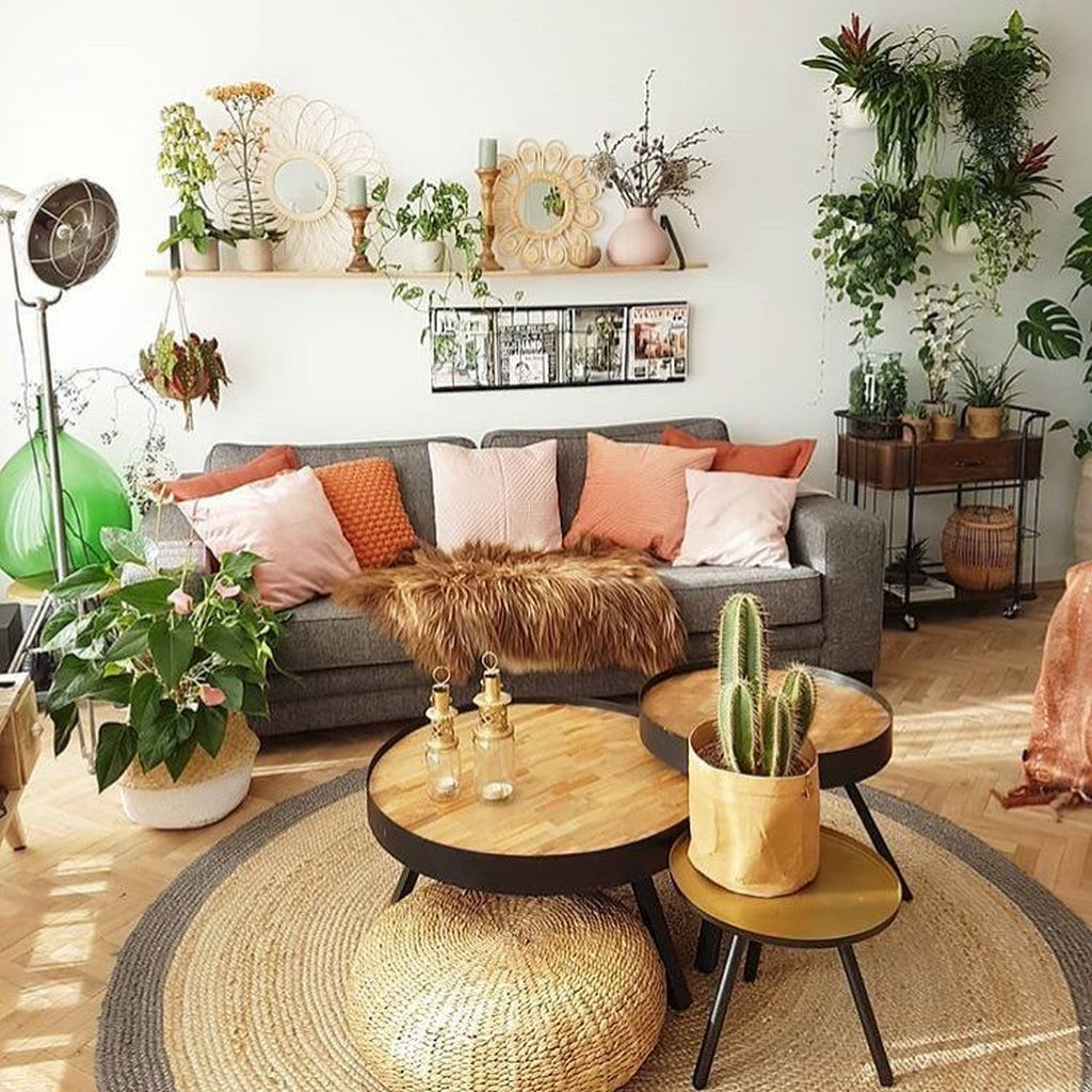 Lovely Bohemian Living Room Decor Ideas 05
