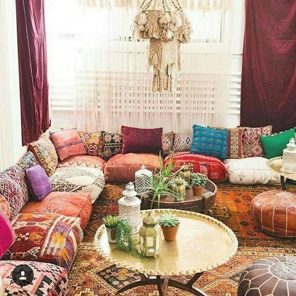 Lovely Bohemian Living Room Decor Ideas 06