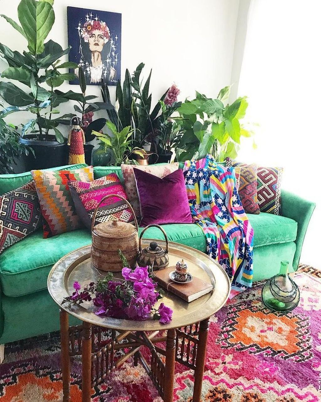 Lovely Bohemian Living Room Decor Ideas 13