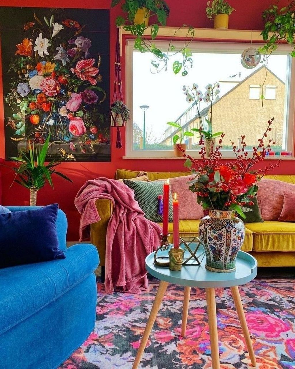 Lovely Bohemian Living Room Decor Ideas 30