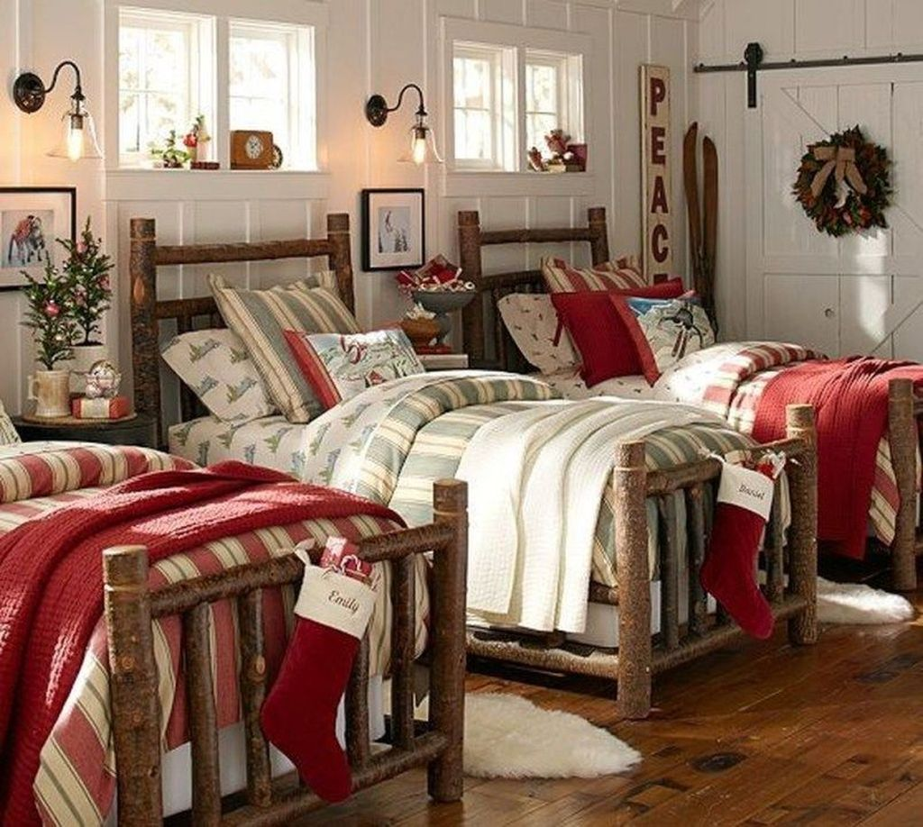 Lovely Christmas Kids Bedroom Decorations 05