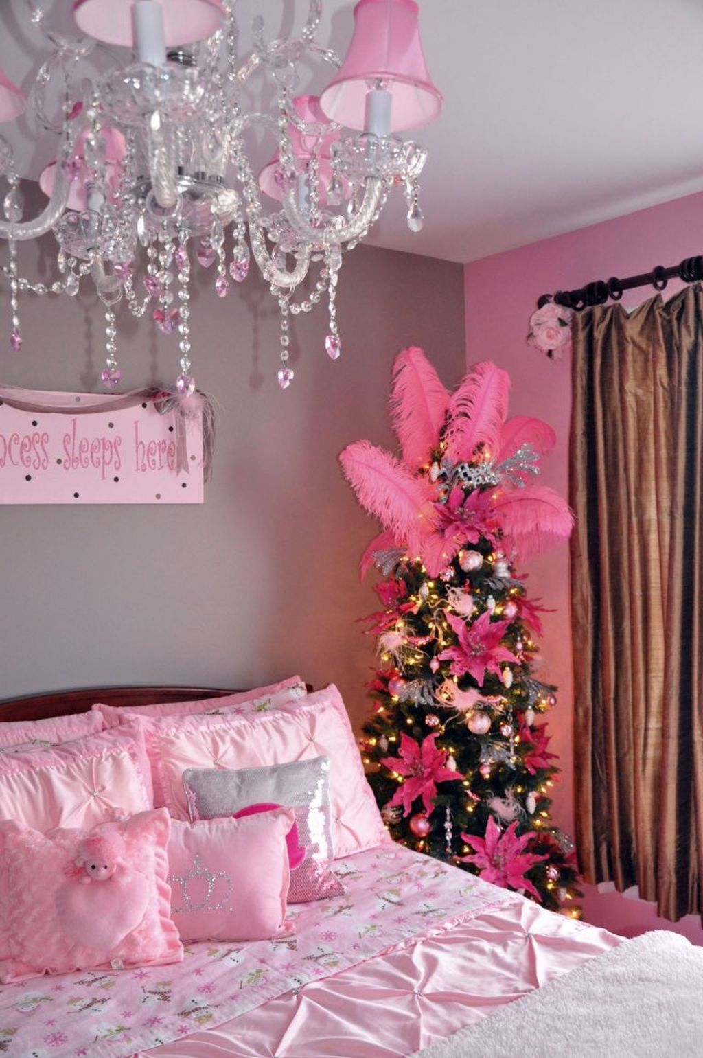 Lovely Christmas Kids Bedroom Decorations 28