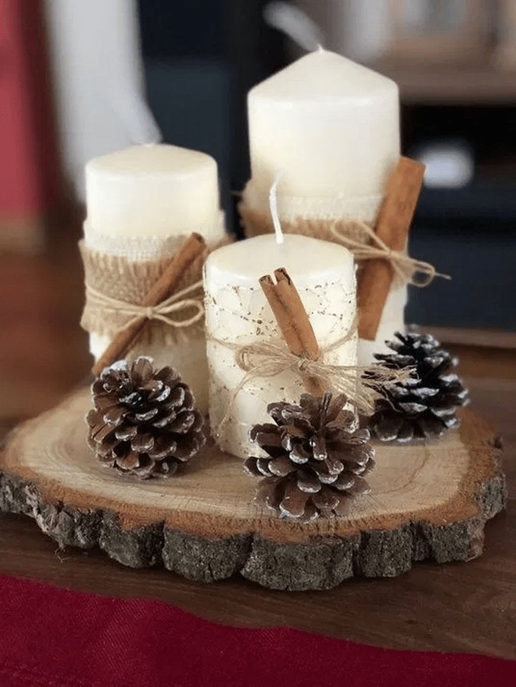 Nice Christmas Rustic Ornaments For Home Decoration 01