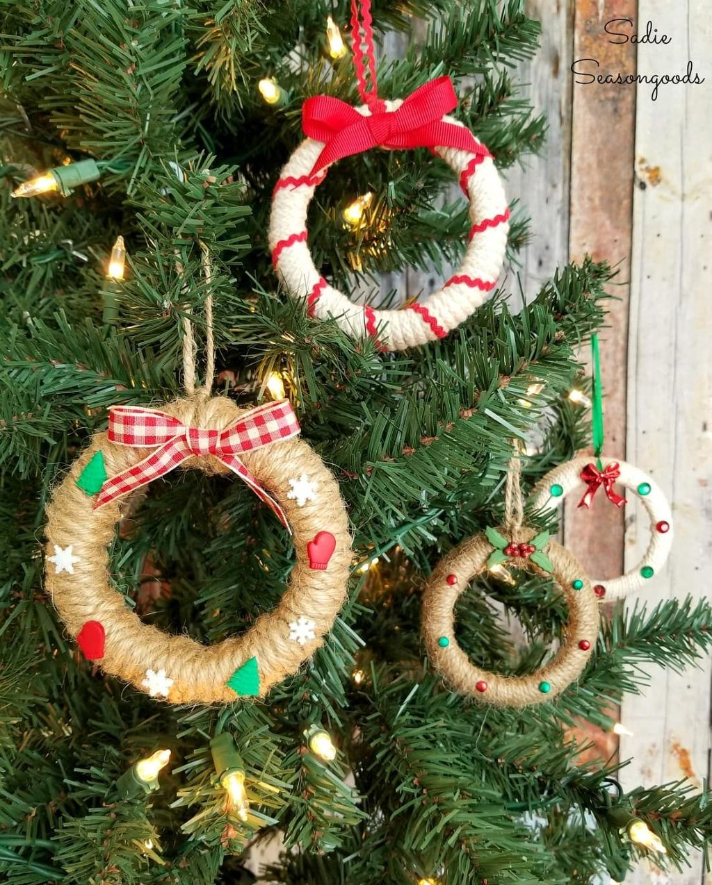 Nice Christmas Rustic Ornaments For Home Decoration 17