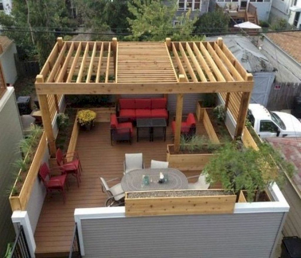 Nice Rooftop Terrace Design Ideas 04