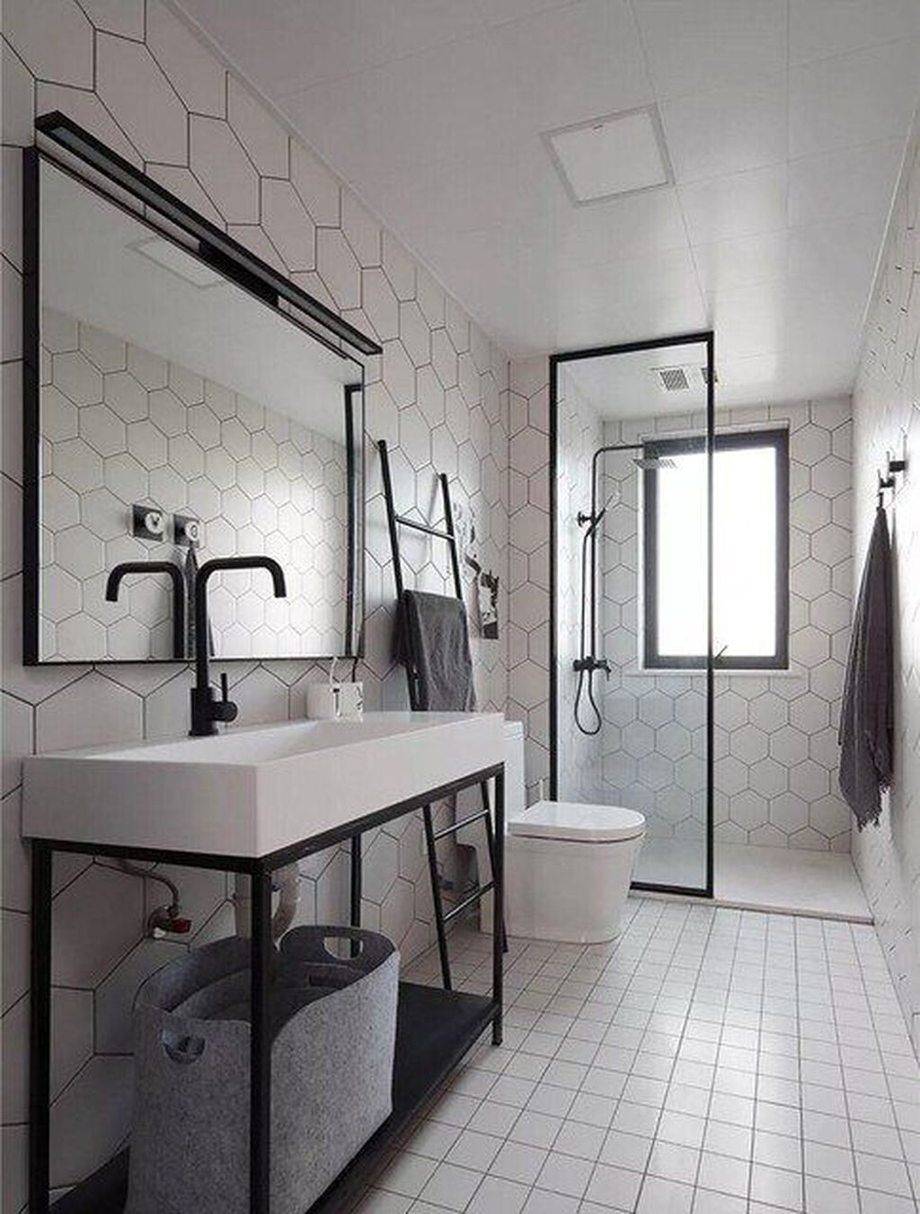 Stunning Industrial Bathroom Design Ideas 04