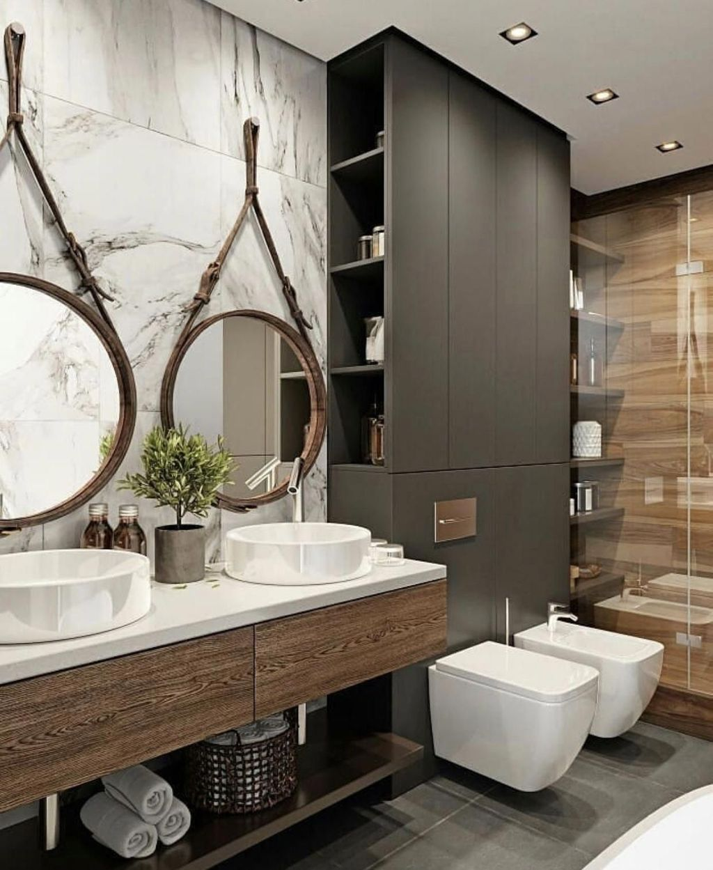 Stunning Industrial Bathroom Design Ideas 06