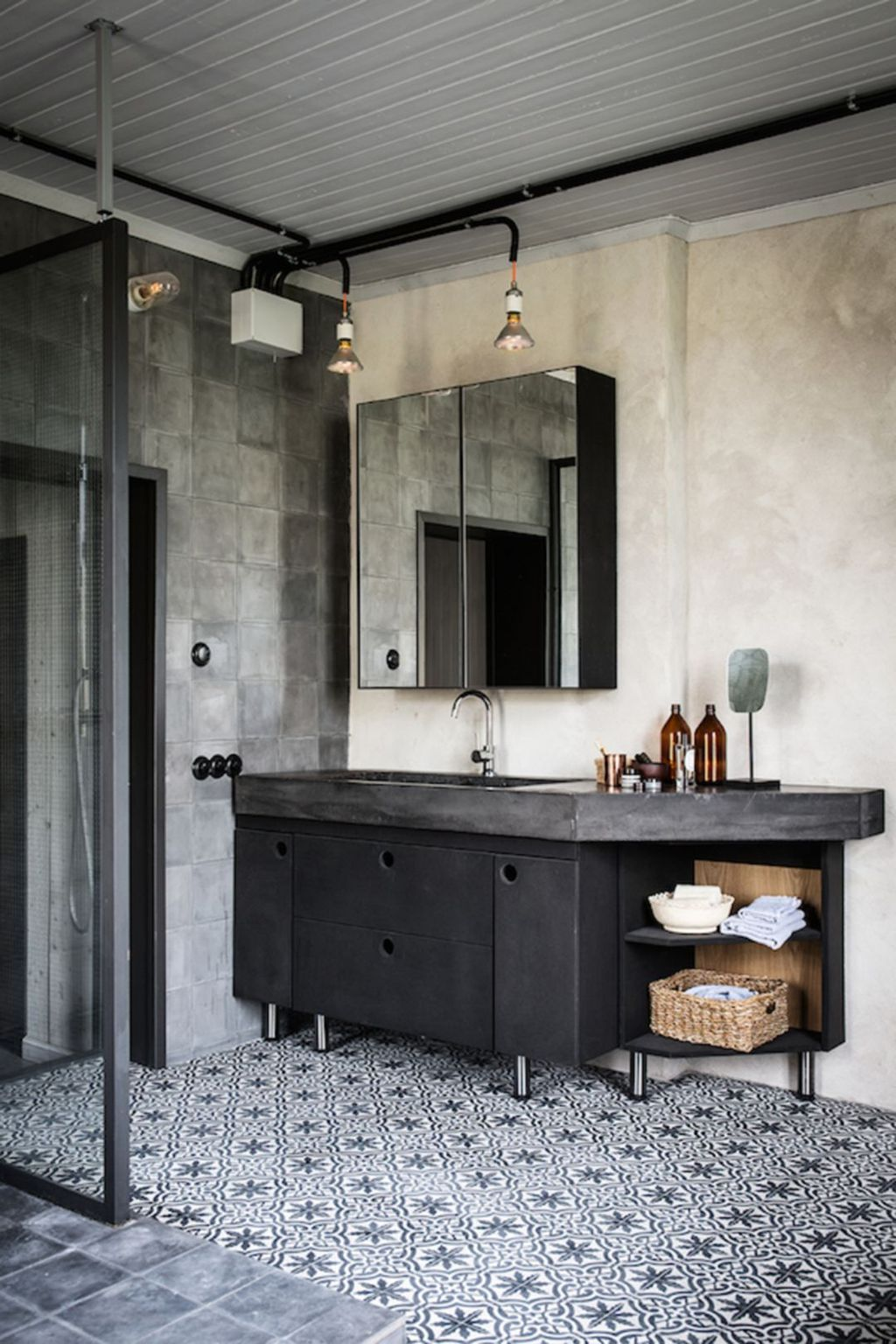Stunning Industrial Bathroom Design Ideas 09