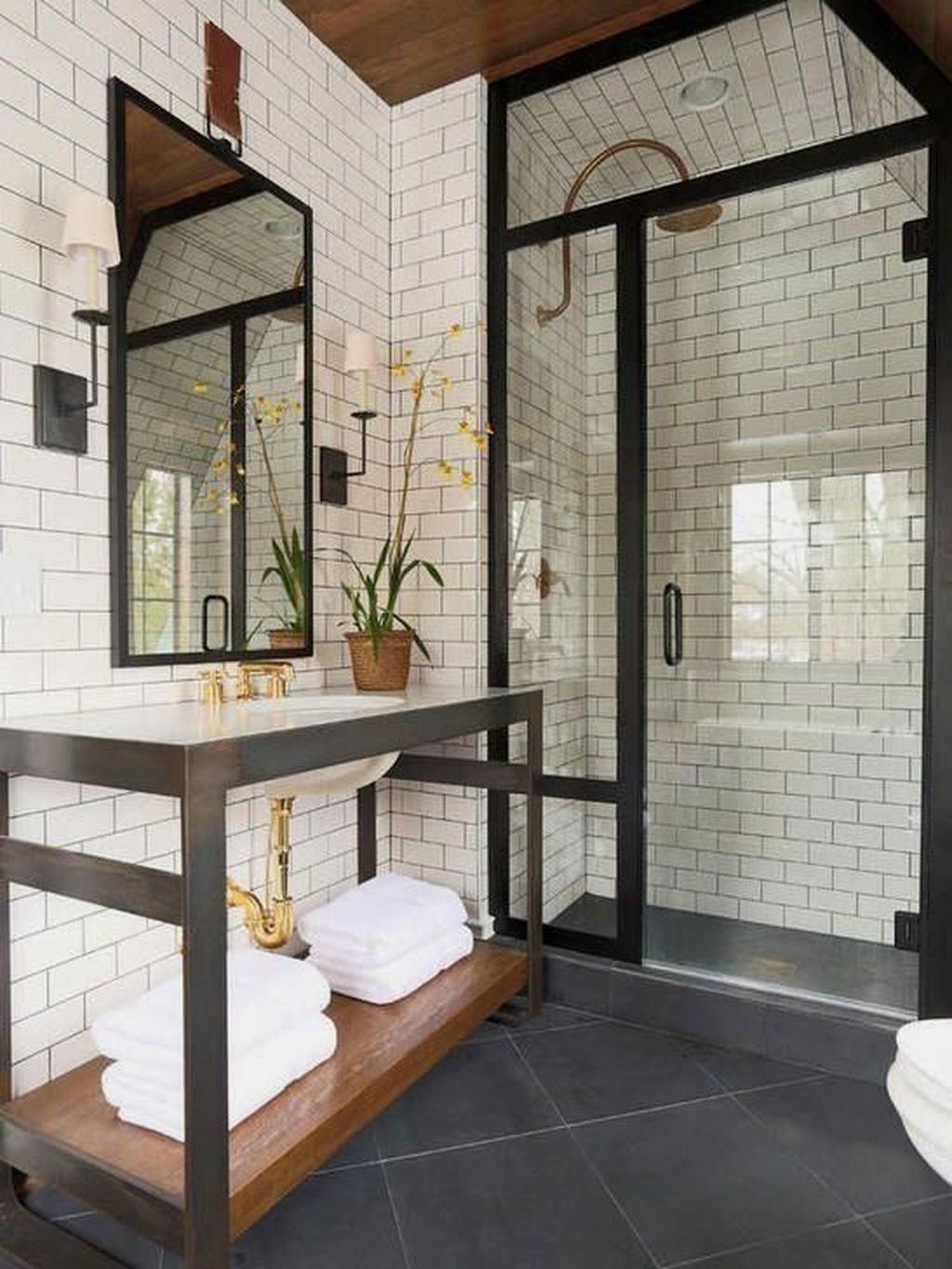 Stunning Industrial Bathroom Design Ideas 11