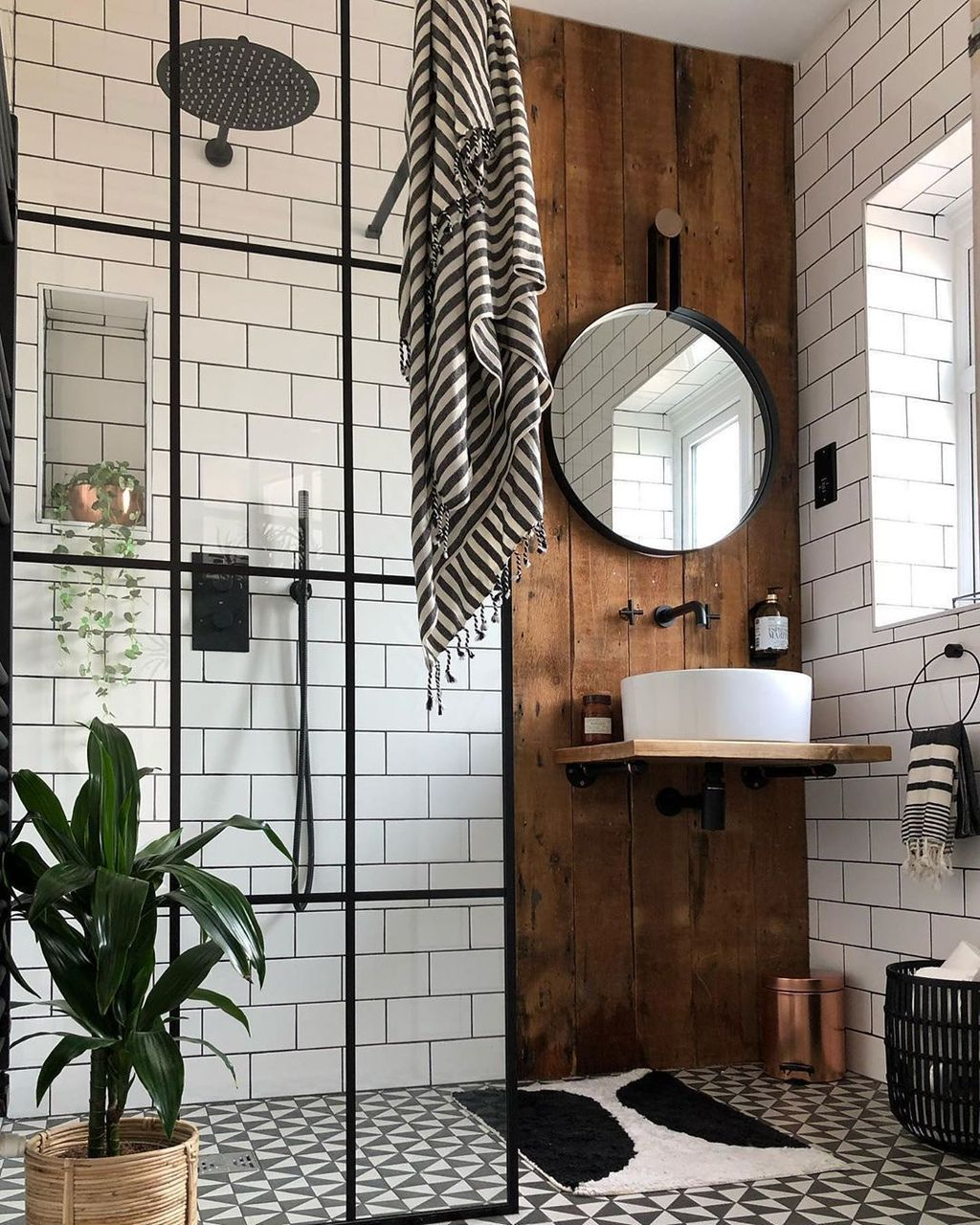 Stunning Industrial Bathroom Design Ideas 14