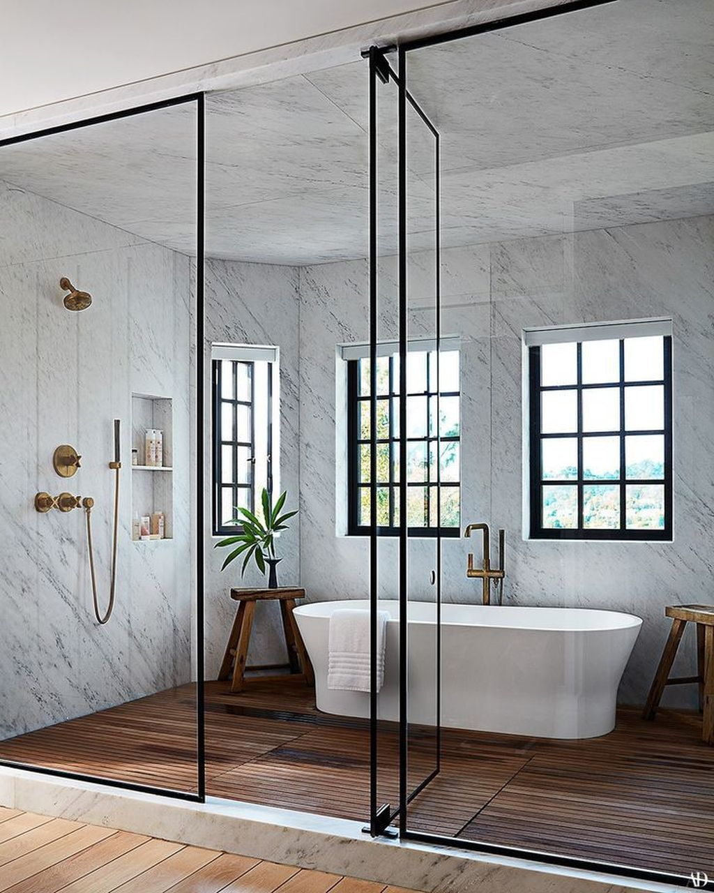 Stunning Industrial Bathroom Design Ideas 21