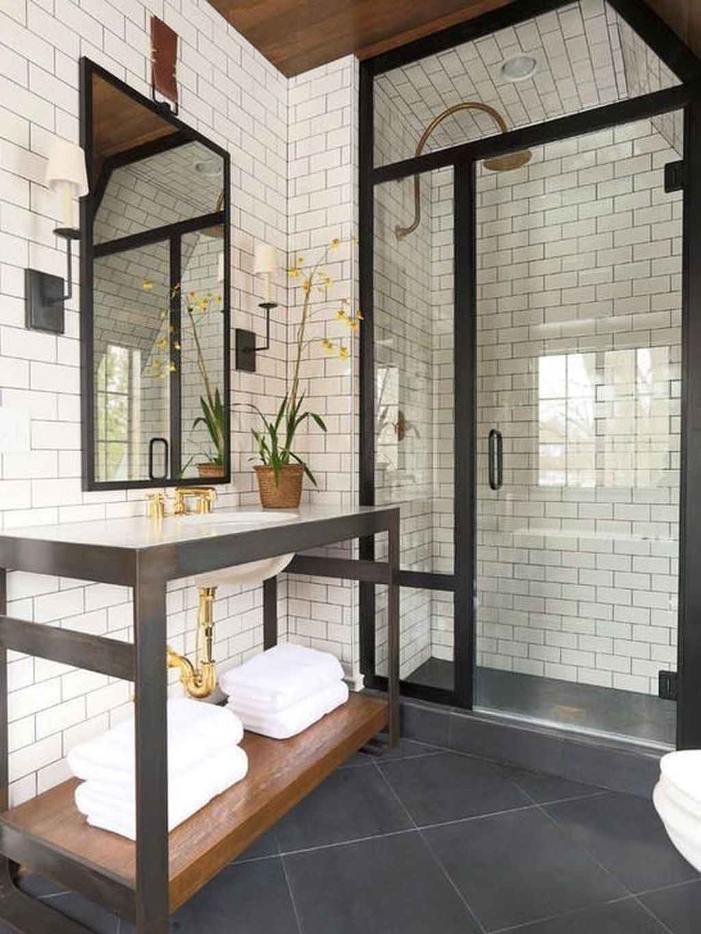 Stunning Industrial Bathroom Design Ideas 22