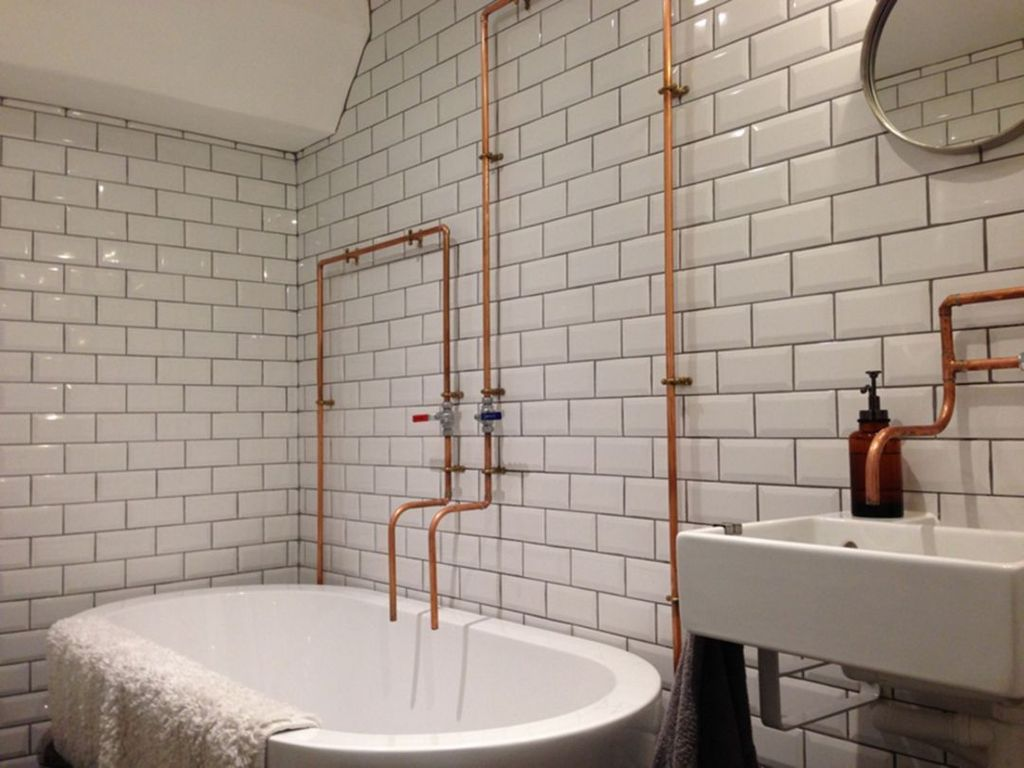 Stunning Industrial Bathroom Design Ideas 31