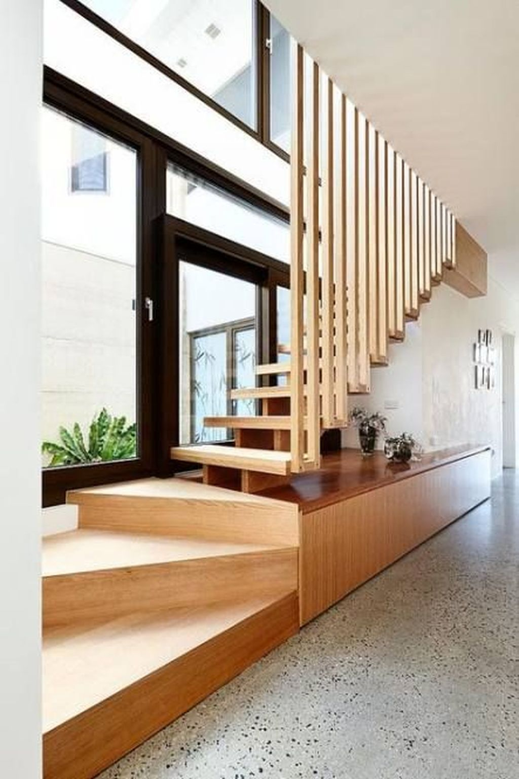 Stunning Wooden Stairs Design Ideas 12