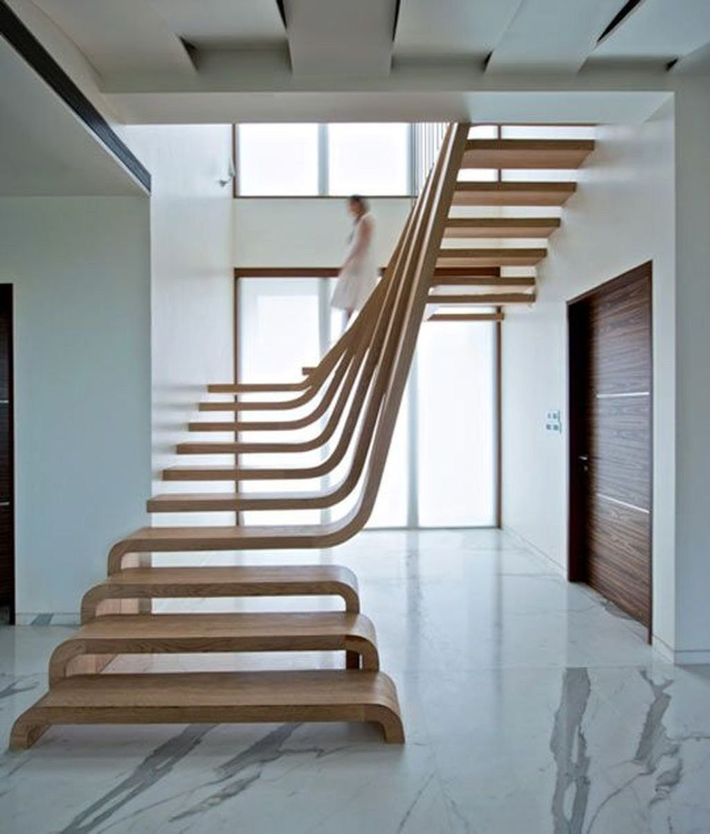 Stunning Wooden Stairs Design Ideas 35
