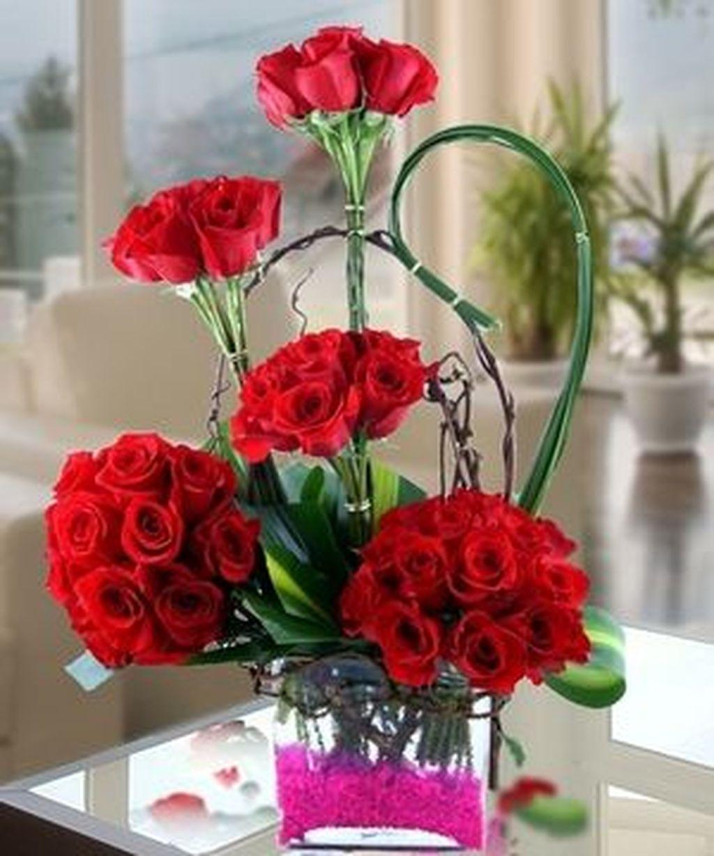 Beautiful Valentine Flower Arrangements That You Will Like 07
