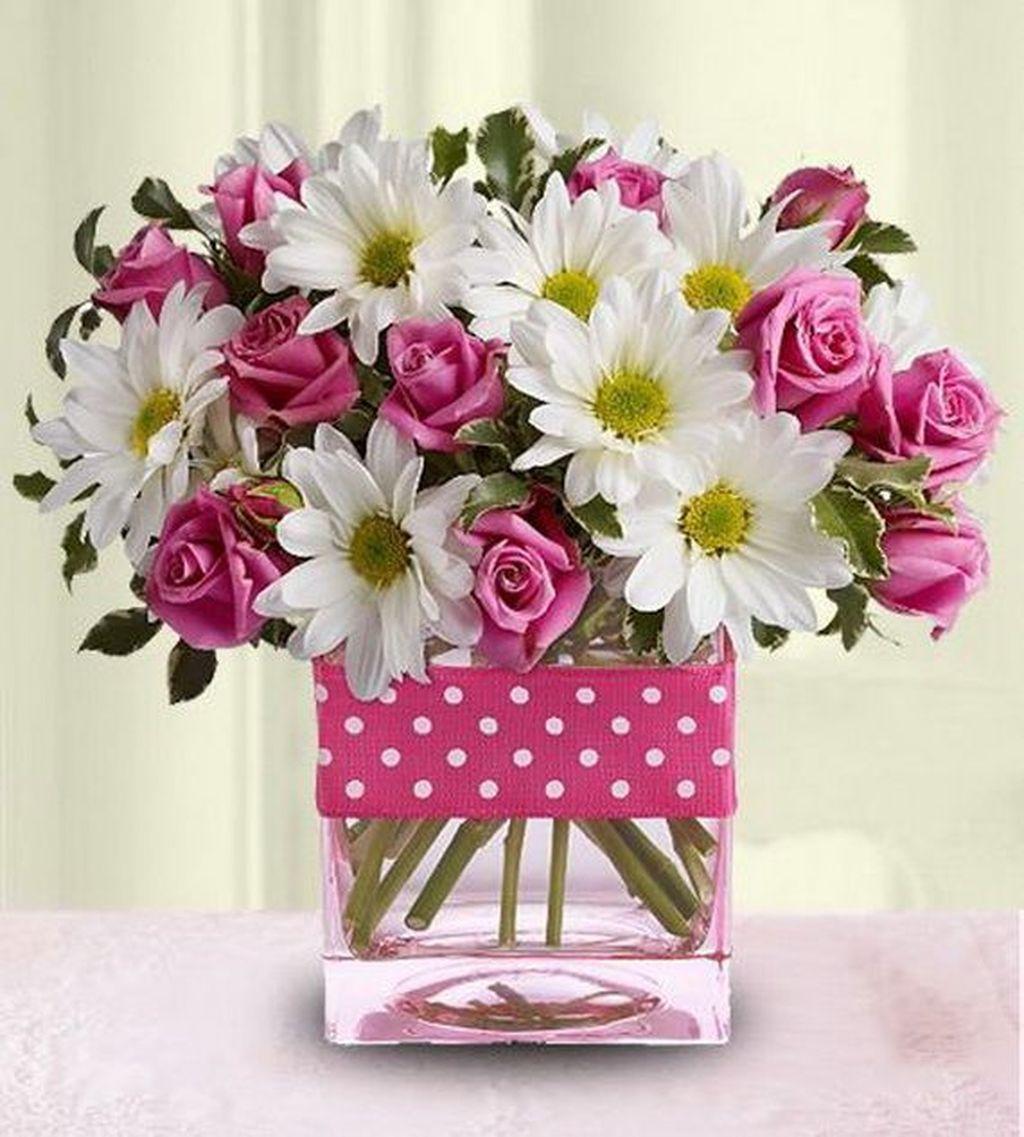 Beautiful Valentine Flower Arrangements That You Will Like 19