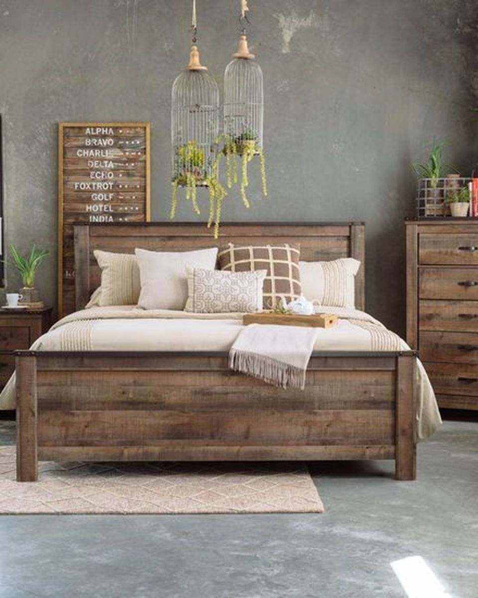 Gorgeous Rustic Bedroom Design And Decoration Ideas 01