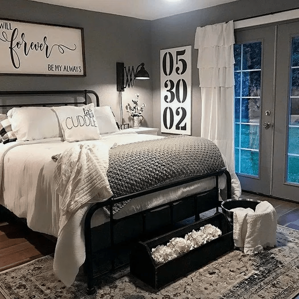 Gorgeous Rustic Bedroom Design And Decoration Ideas 06