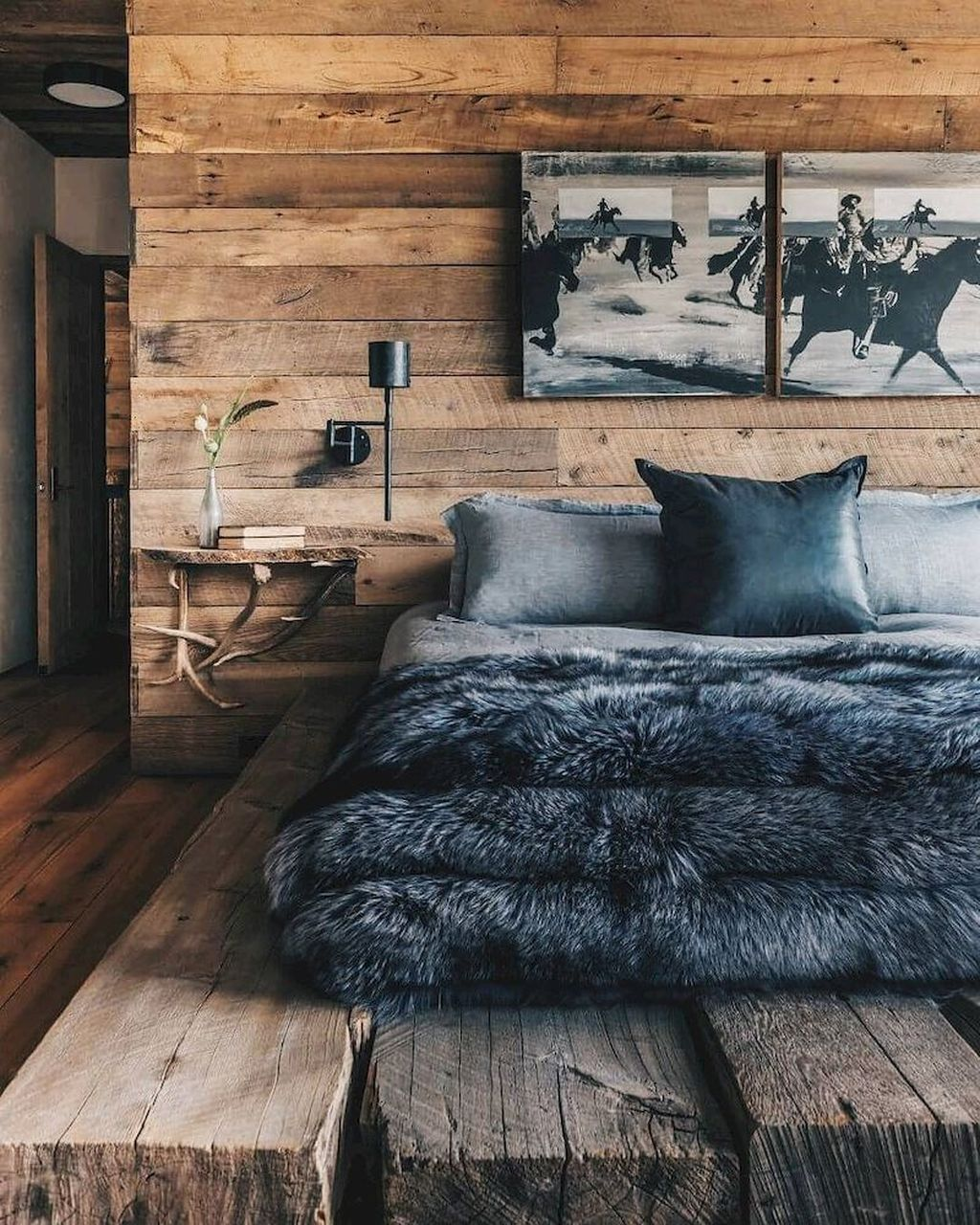 Gorgeous Rustic Bedroom Design And Decoration Ideas 15