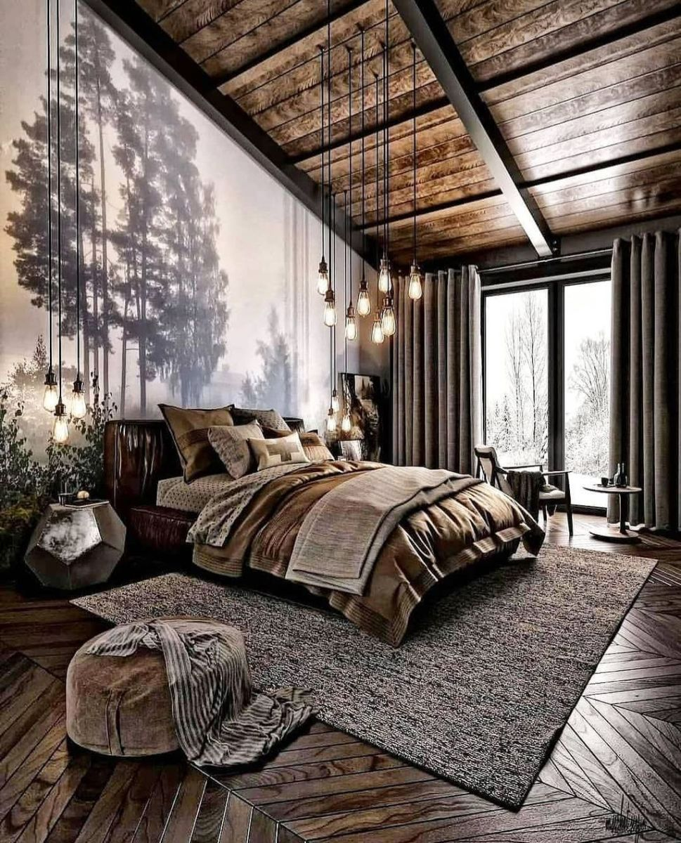 Gorgeous Rustic Bedroom Design And Decoration Ideas 19