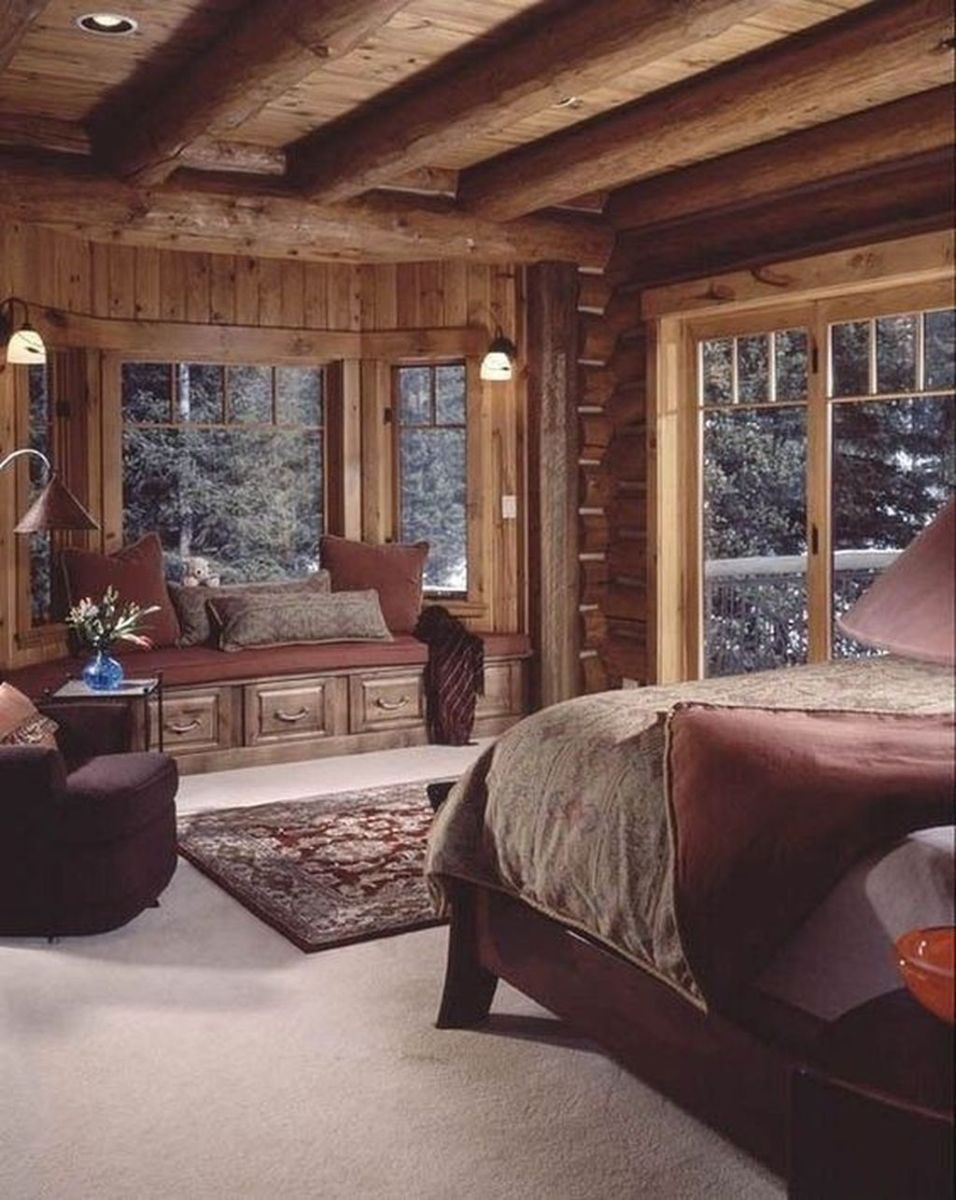 Gorgeous Rustic Bedroom Design And Decoration Ideas 27