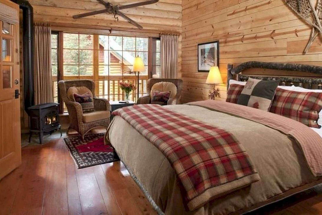 Gorgeous Rustic Bedroom Design And Decoration Ideas 28