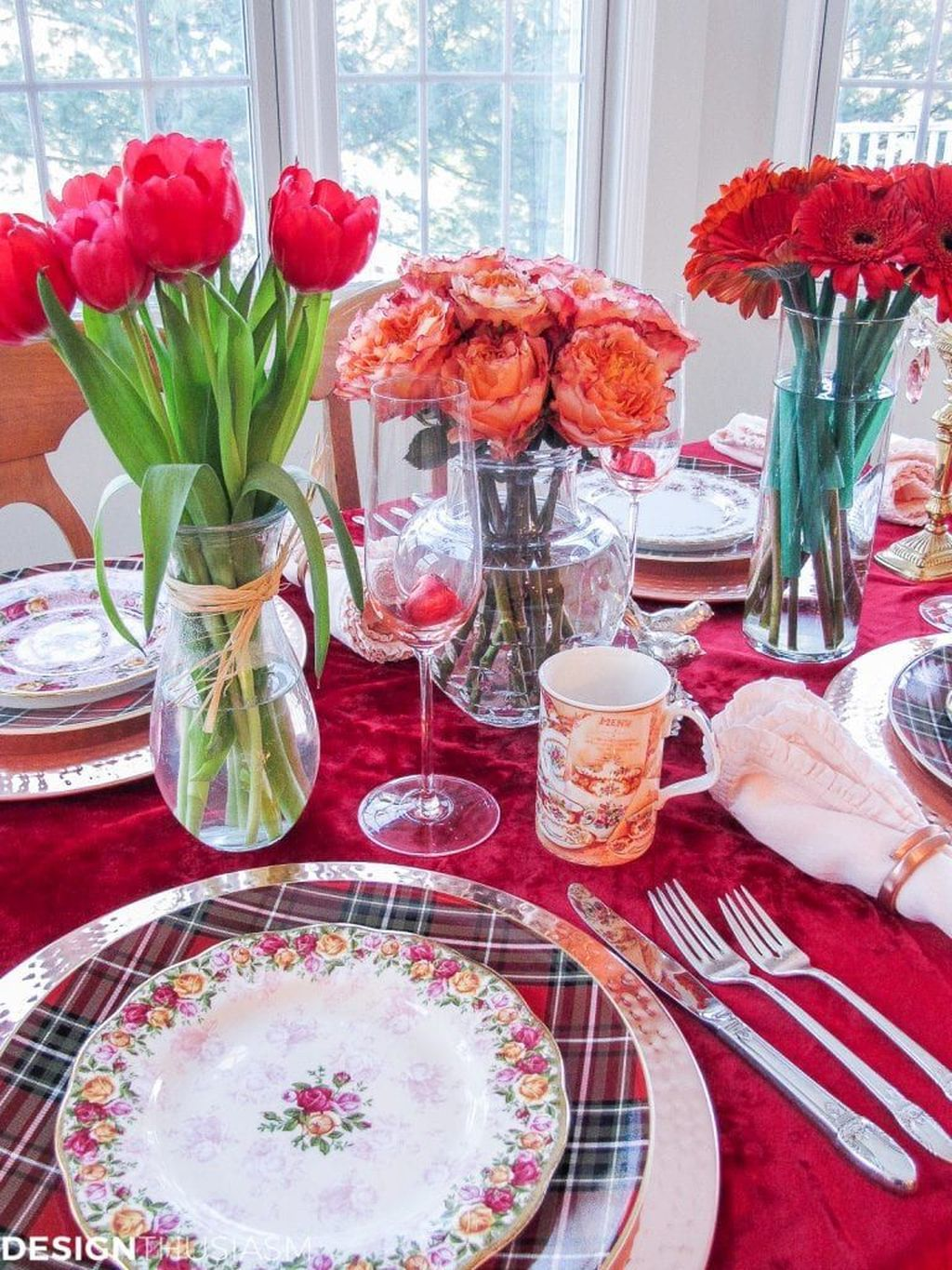 Lovely Valentine Table Decor That You Must Apply In The Dining Room 25