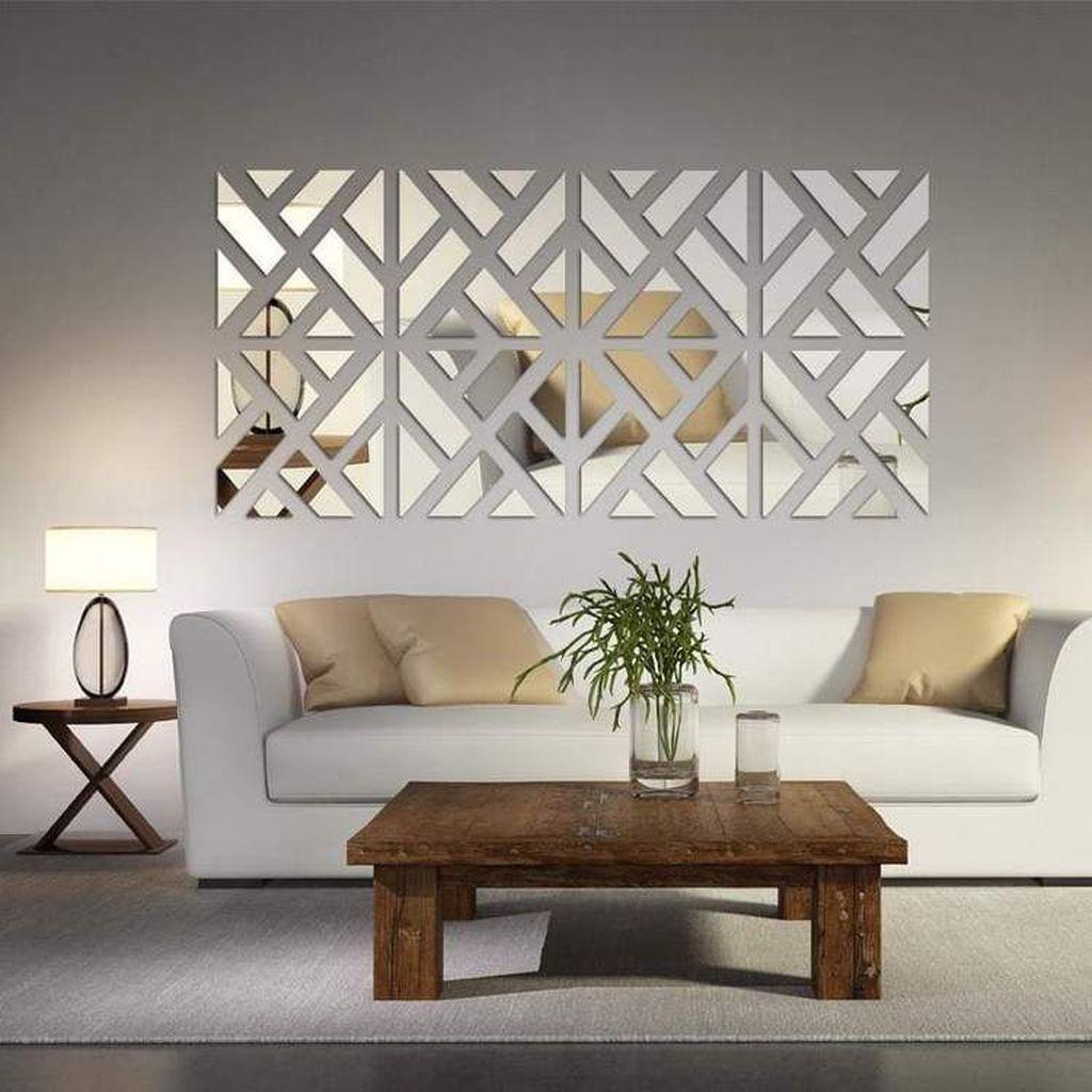 Popular Mirror Wall Decor Ideas Best For Living Room 13