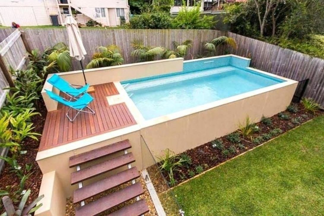 Amazing Ground Pool Landscaping That You Should Copy 12