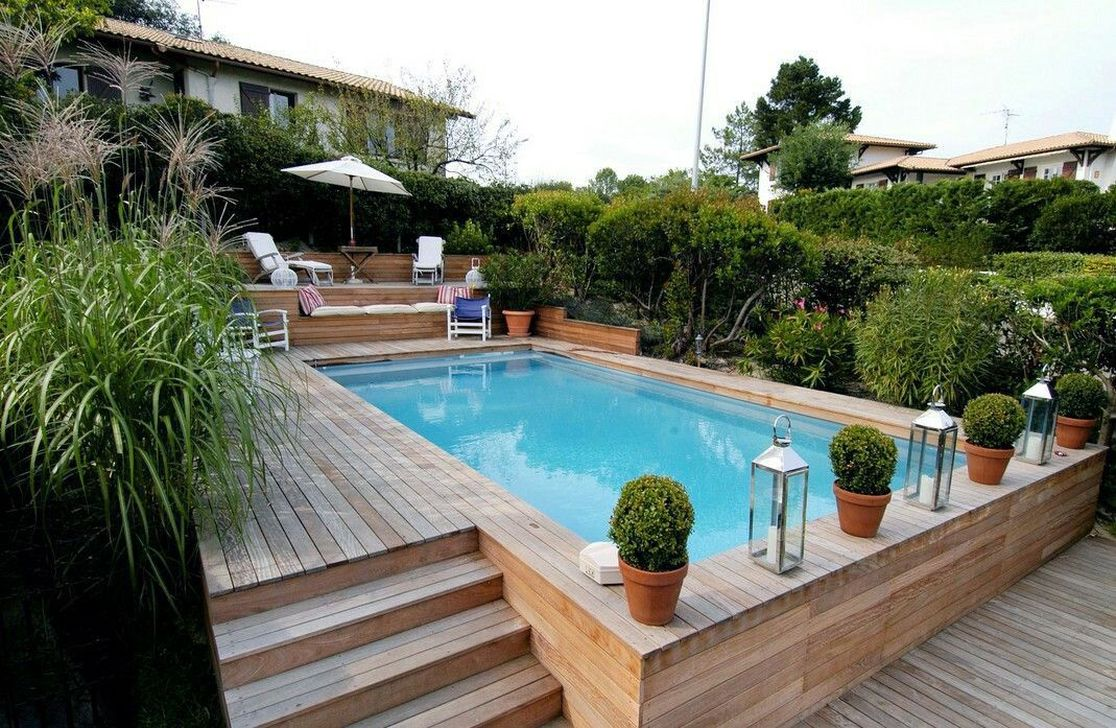 Amazing Ground Pool Landscaping That You Should Copy 31