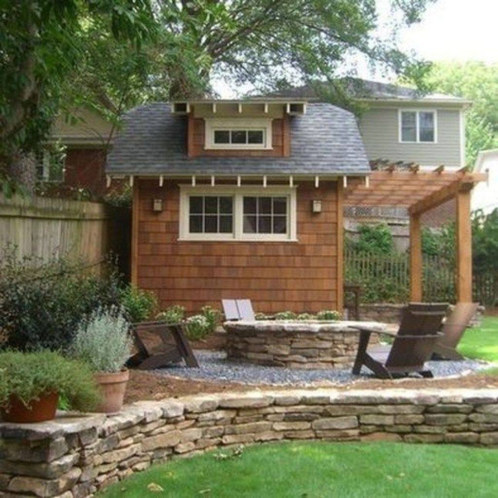 Beautiful Backyard Shed Landscaping Ideas 01