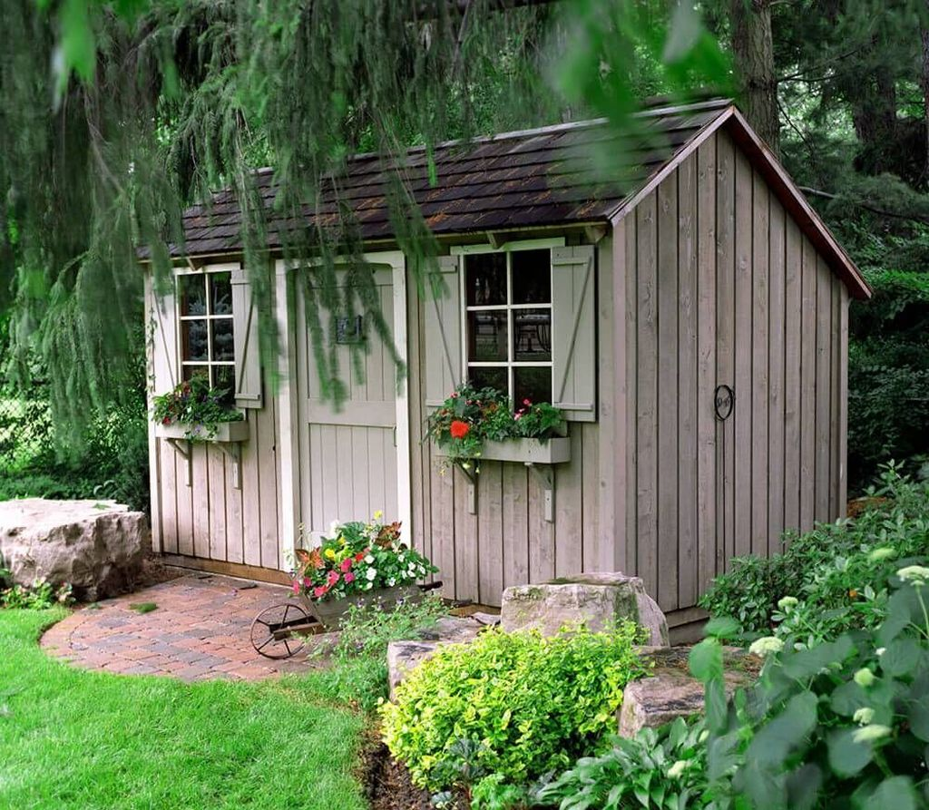 Beautiful Backyard Shed Landscaping Ideas 07
