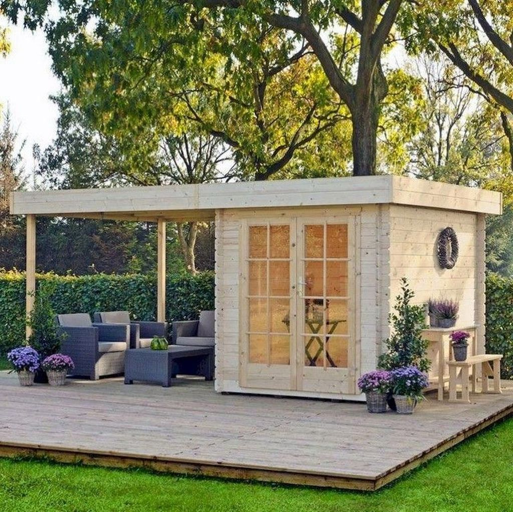 Beautiful Backyard Shed Landscaping Ideas 09