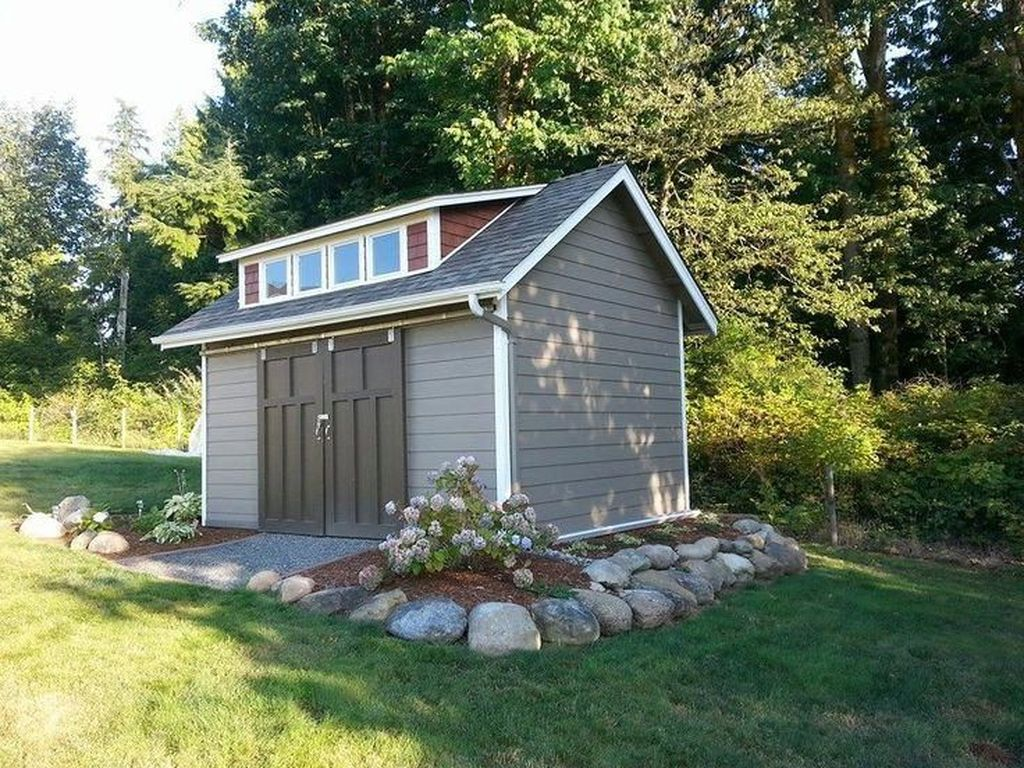 Beautiful Backyard Shed Landscaping Ideas 12