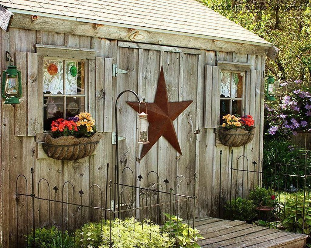 Beautiful Backyard Shed Landscaping Ideas 13