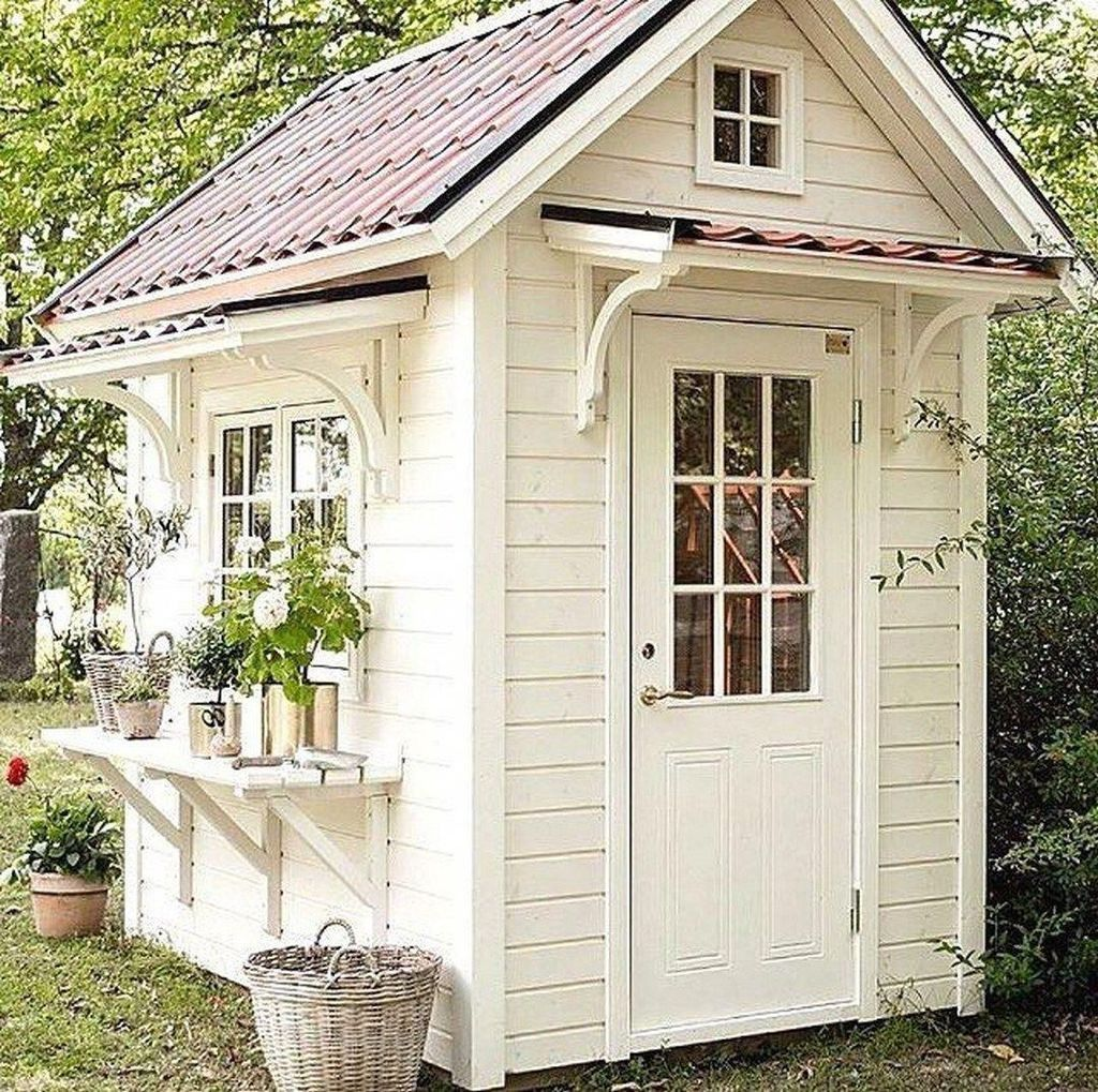 Beautiful Backyard Shed Landscaping Ideas 20