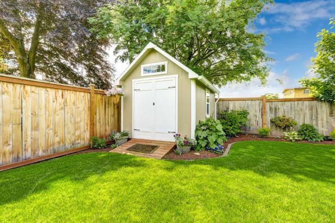 Beautiful Backyard Shed Landscaping Ideas 34