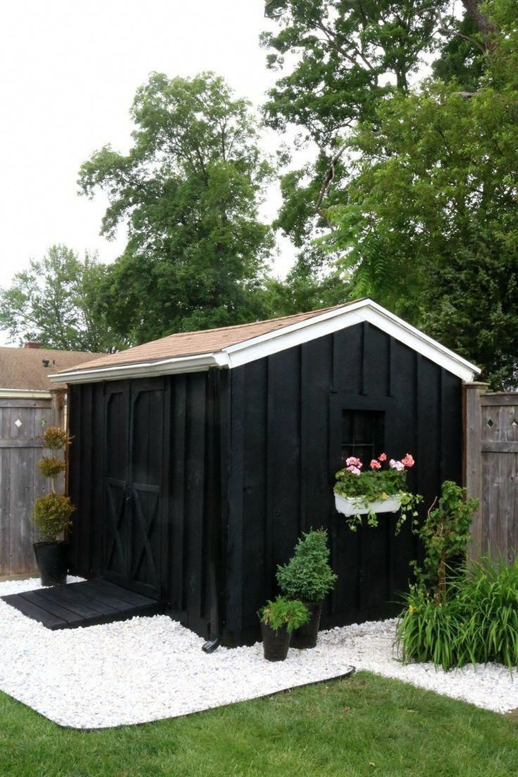 Beautiful Backyard Shed Landscaping Ideas 35