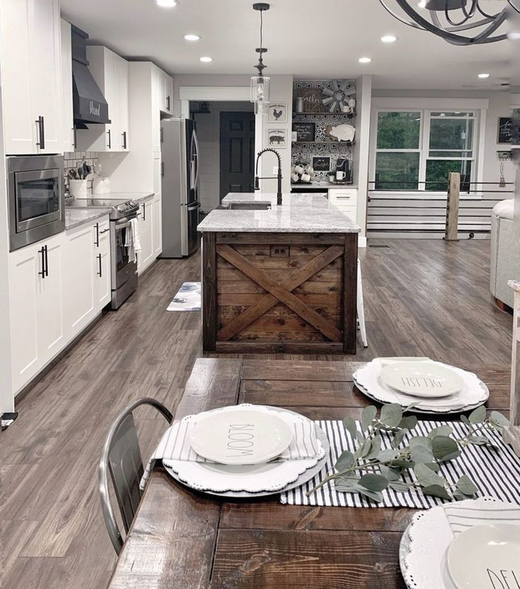 Great Ideas For Modern Farmhouse Kitchen Decorations 33