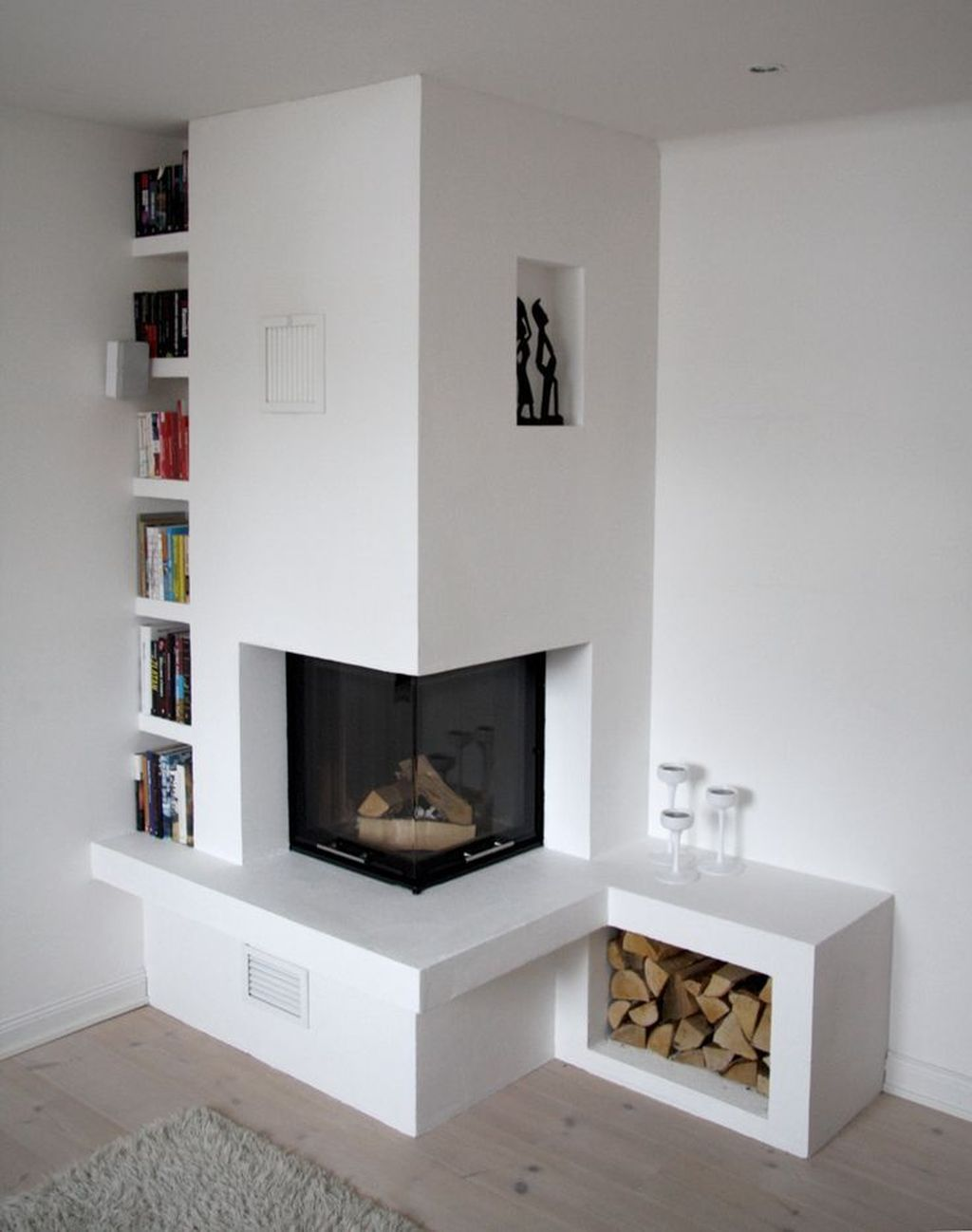 Stunning Corner Fireplace Design For Living Room 27